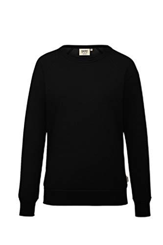 HAKRO Damen-Raglan-Sweatshirt, schwarz, L