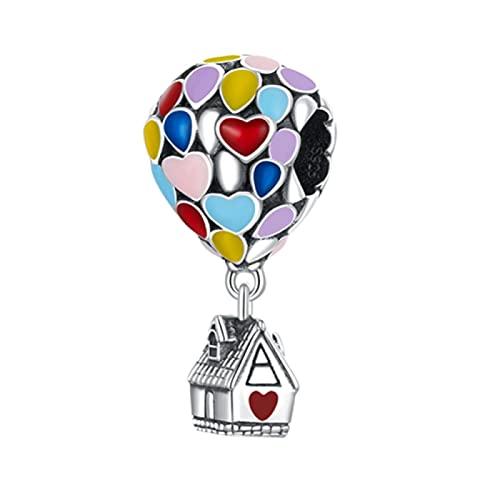 LISHOU Dream Hot Air Balloon Charm 925 Cuentas Colgantes De Plata Esterlina Fit Original Pandora Collar Pulsera DIY Joyería Que Hace Regalo