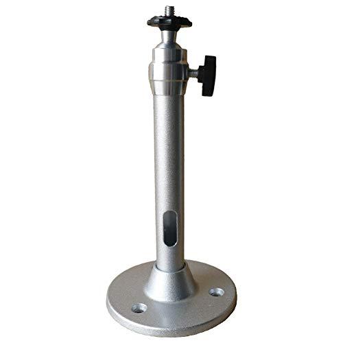 Soporte de pared para proyector de aluminio ajustable de 360 grados, soporte de montaje para proyector de techo de 18 cm, soporte giratorio de metal, soporte de cámara DV, capacidad de 5 kg