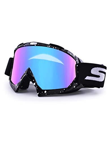 SGTTX Motorradbrille, ATV Dirt Bike Off Road Racing MX-Fahrbrille Anti-UV-Schutzbrille Winddichte staubdichte Motocross-Brille Anti-Scratch-Motorradbrille zum Radfahren/Reiten/Klettern/Skifahren