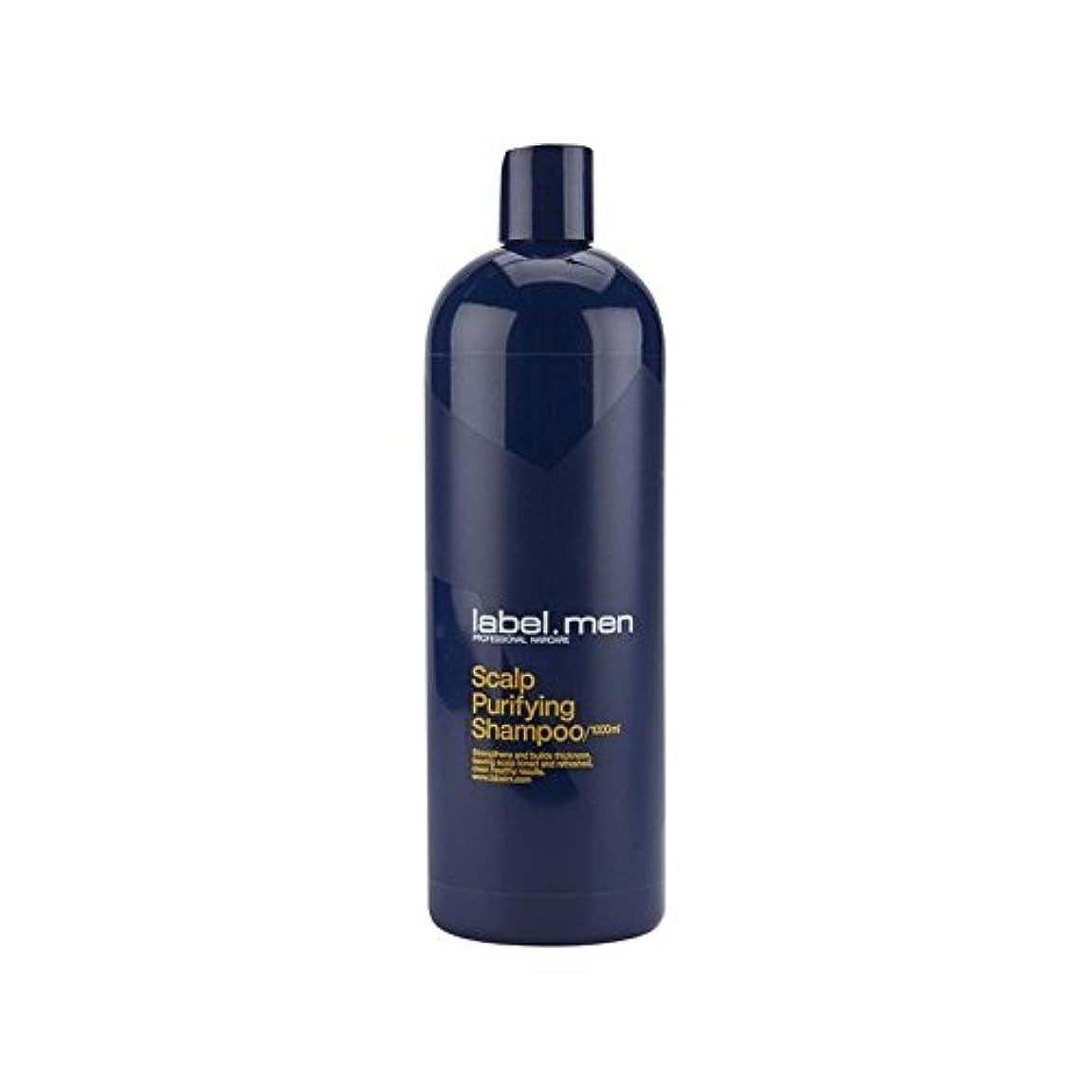 宿命故障雑多なLabel.Men Scalp Purifying Shampoo (1000ml) - .頭皮浄化シャンプー(千ミリリットル) [並行輸入品]