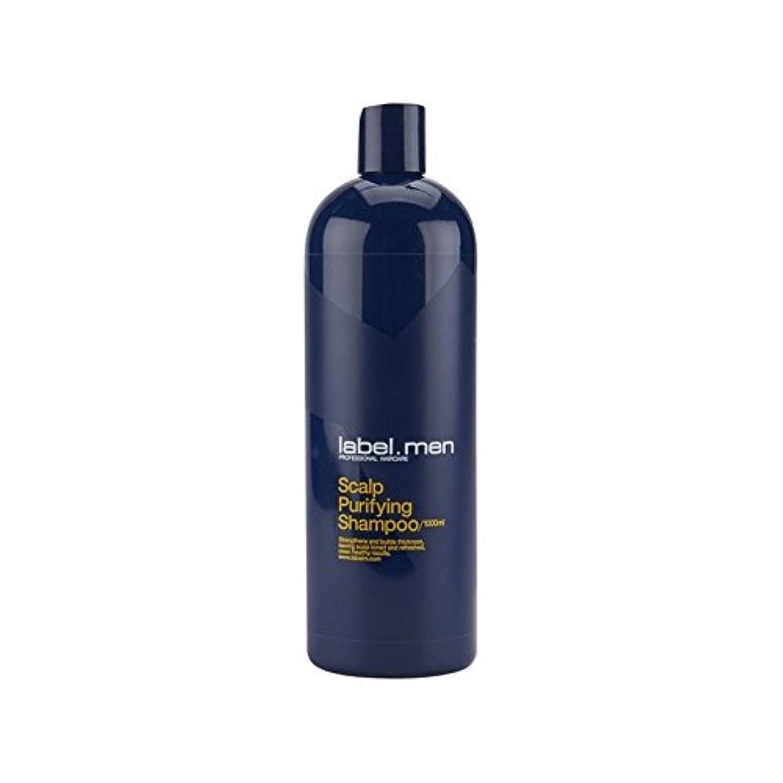 うまくやる()自宅でコンチネンタルLabel.Men Scalp Purifying Shampoo (1000ml) (Pack of 6) - .頭皮浄化シャンプー(千ミリリットル) x6 [並行輸入品]