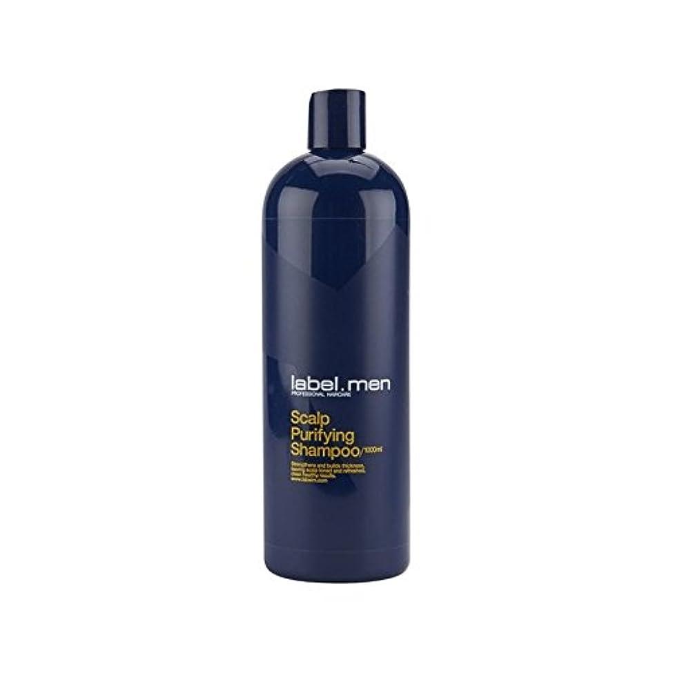 列車論文無秩序.頭皮浄化シャンプー(千ミリリットル) x4 - Label.Men Scalp Purifying Shampoo (1000ml) (Pack of 4) [並行輸入品]