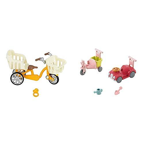 シルバニアファミリー 家具 三人乗り自転車 カ-625 & シルバニアファミリー 家具 三輪車・くるまセット カ-216【セット買い】