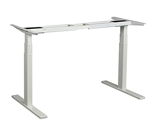 Ergopose Standing Ergonomic Electric Height Adjustable DIY Desk Frame Workstation in White (Top not Included)