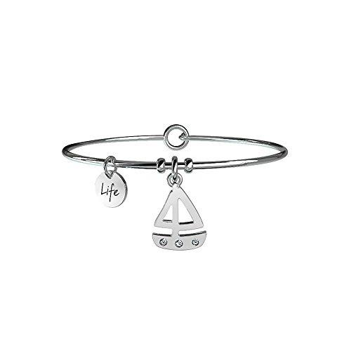 Armband Kidult Free Time aus Stahl 316L und Kristallen–231640Hefeteigschüssel Boot–Mut