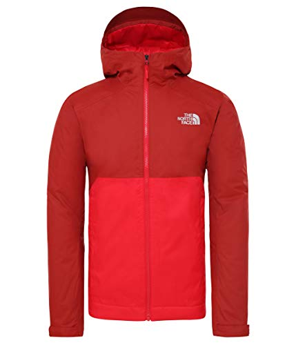 THE NORTH FACE M Millerton Insulated Jacket Colorblock-Rot, Herren Jacke, Größe S - Farbe Cardinal Red - TNF Red