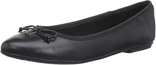 Tommy Hilfiger Damen Feminine Leather Knot Ballerina Pumps, Schwarz (Black Bds), 41 EU