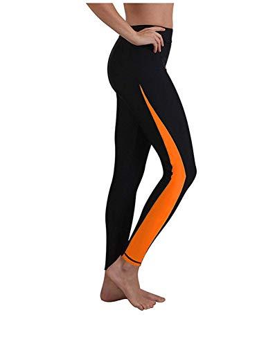 SwissWell Dames Surfing Leggings lange zwembroek elastiek veelkleurig UV-bescherming Lineair Fit zwemmen badmode panty's zwemmen watersport duikbroek