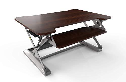 InMovement Standing Desk Converter DT20 (Walnut)
