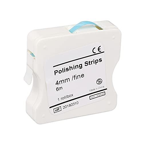 Anself Blanqueadores de dientes Tira de Pulido Dental 4mm Blanqueamiento Dental Superficie y Diente Interdental (Azul (fino), 2 pcs)
