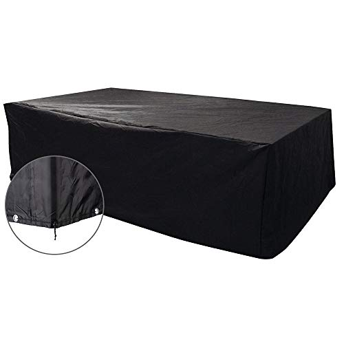 FCZBHT Couverture de Meubles Pare-poussière Extérieur, Tissu Oxford, Mobilier De Jardin Table/Chaise/Canapé/Table Basse, Protection Solaire/Étanche Garde poussière