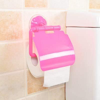 Skykaylen - Toallero de plástico para decoración del hogar, baño, cocina, soporte de papel con ventosa a prueba de agua, color burdeos