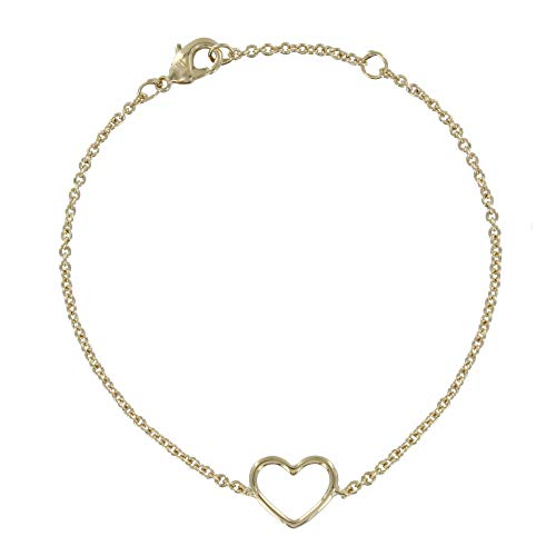 Schmuck Les Poulettes - Vergoldet Armband Durchbrochene Herz