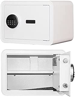 0.8 Cub Safe Box with Fireproof Bag for Home Office, All-Steel Cabinet Safe with Digital Keypad and Keys for Money Gun Jew...