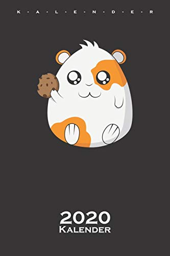 süßes Meerschweinchen mit Cookie Kalender 2020: Jahreskalender für Tierfreunde und alle mit Haustieren
