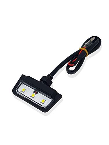 E Geprüft LED Kennzeichenbeleuchte Universal Motorrad - Quad Roller Auto KFZ ATV Wasserprüf IP67 Mini Schwarz Super Optik Kennzeichenbeleuchtung