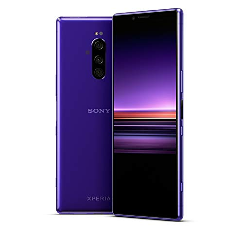 Sony Xperia 1 Unlocked Smartphone 6.5' 4K HDR OLED CinemaWide Display, 128GB - Purple - (US Warranty)