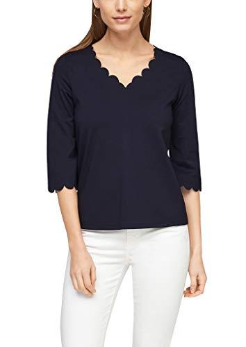 s.Oliver BLACK LABEL 150.10.102.12.130.2059262 Camiseta, Azul Marino, 42 para Mujer