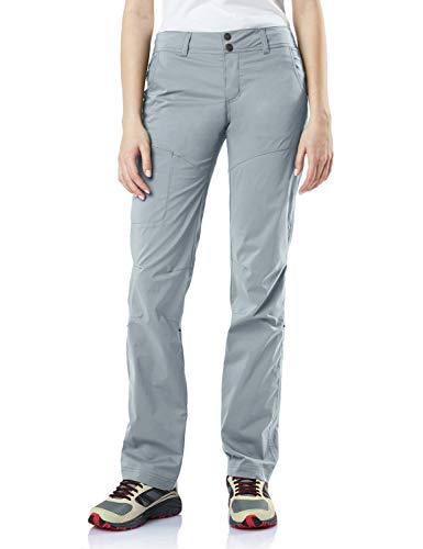 CQR Women's Hiking Pants, Quick Dry Stretch UPF 50+ Sun Protective Outdoor Pants, Lightweight Camping Work Pant, Driflex Roll-up(wxp422) - Stone, 6 Short