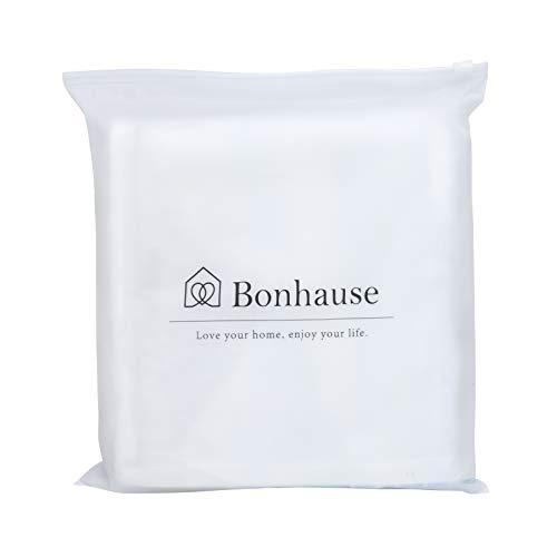 Bonhause 4 Pack Federa per Cuscini 45 x 45 cm Tropicale Foglie Verde Cotone Biancheria Copricuscini Decorativi per Divano Letto Auto