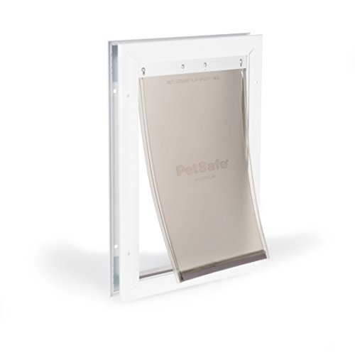 PetSafe Freedom Aluminum Dog and Cat Door - Durable Frame -Medium Pets, White (PPA00-10860)