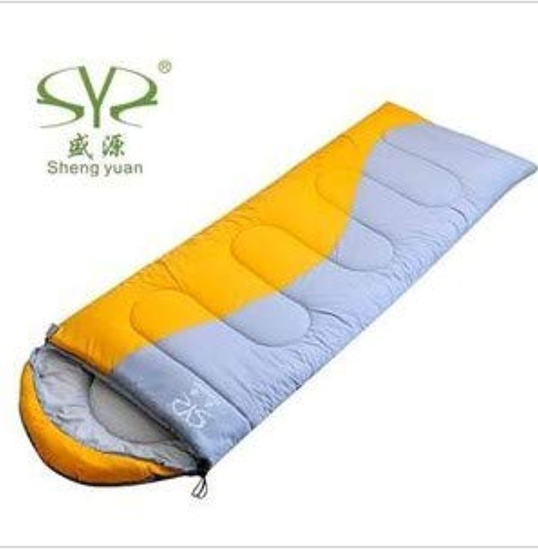 YUHUS Home Outdoor Dicker hohler Umschlagschlafsack aus Baumwolle Herbst und Winter können doppelte Schlafsäcke genäht Werden (Farbe   Gelb) B07LFV5589  Hohe Sicherheit