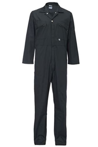 Ladies Zip Front Boilersuit Workwear Boiler Suit Coverall Overall Womens Girls (12 (36' Chest), Navy Blue)