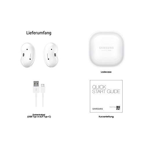 Samsung Galaxy Buds Live, Kabellose Bluetooth-Kopfhörer Mit Noise Cancelling (ANC), ausdauernder Akku, Sound by AKG, komfortable Passform, Weiß (Deutche Version)