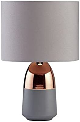 Argos Home Duno Touch Table Lamp (Grey & Copper)