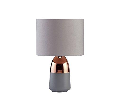 Argos Home Duno Touch Lámpara de mesa (gris y cobre)