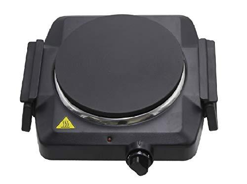 Lentz Einzelkochplatte Einzel Kochplatte 1500 Watt schwarz black Kochfeld TÜV geprüfte Markenqualität inkl Haltegriffen