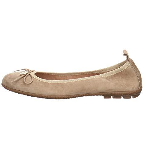 Antonella S.r.L. Damen Ballerina Velour Taupe Gr. 39