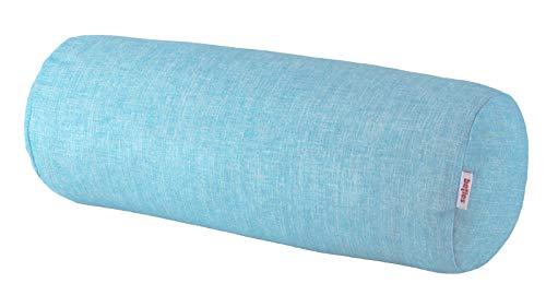 beties PastellLiebe XL Nackenrollen Bezug ca.25x70 cm 50% Baumwolle 50% Polyester leicht fließende Uni-Kollektion in türkisem Pastellton
