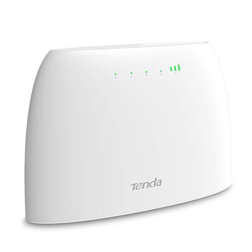 Tenda 4G03 Routeur modem 4G+ LTE 300Mbps WiFi, Box 4G, Plug & Play avec carte SIM pour tous les opérateurs, Configuration facile, Antennes internes, 2 Ports Ethernet, Surveillance du trafic réseau