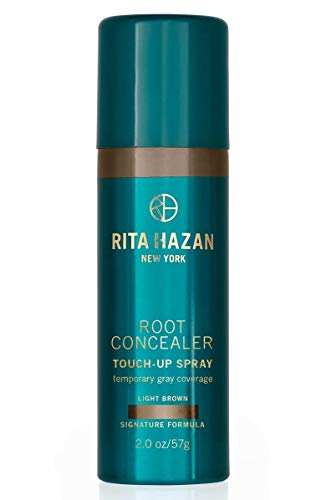 Rita Hazan Root Concealer Touch Up Spray, Light Brown Cover Up Gray, 2 oz