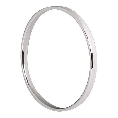 Armreif Silber 925 für Damen Armband 6mm Flach Elegant Poliert Klassisch Schlicht Rund 63mm