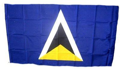 Fahne / Flagge St. Lucia NEU 90 x 150 cm Flaggen