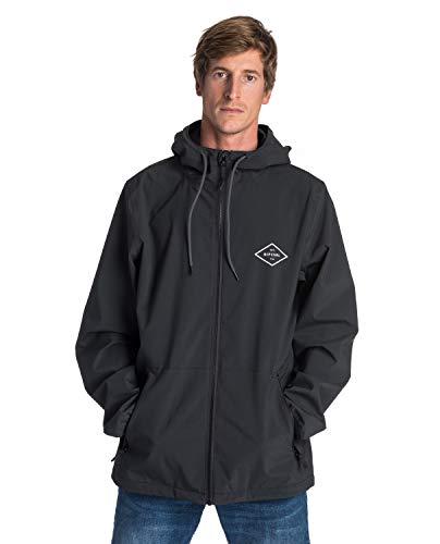 Rip Curl Essential Surfers Anti-Series Hombre,Softshell, Chaqueta de Lluvia con Capucha, elástica, Resistente,Black,M
