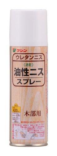 和信ペイント 油性ニススプレー 高耐久・木質感ある高級仕上げ つや消しクリヤー 420ml