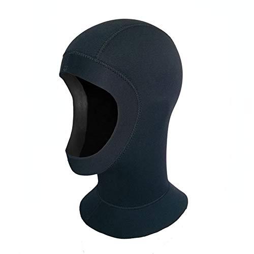 MOXIN Neoprenhaube Tauchhaube schwarz Unisex Erwachsene Kopfhaub Schnorcheln Tauchkopfhauben für Outdoor und Tauchen 5mm,M