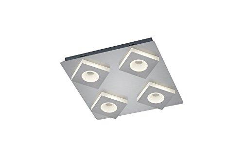 Trio Leuchten Atlanta a +, lámpara LED, metal, 4.3W, metal acrílico, níquel mate, Integriert 4.3W