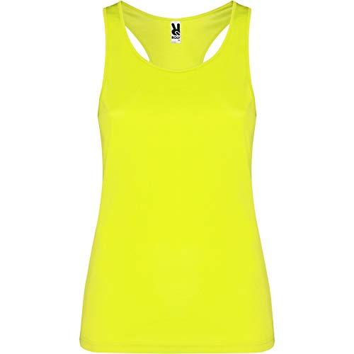 ROLY Camiseta Shura 0349 Mujer Tirantes Amarillo FLÚOR 221 M