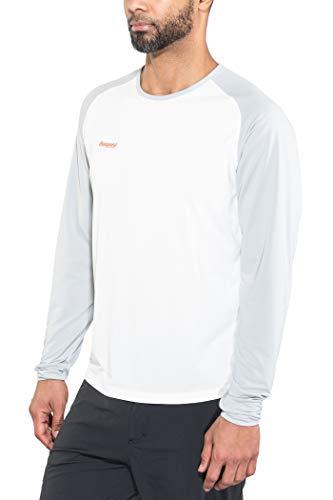 Bergans Slingsby T-Shirt à Manches Longues Homme, White/alu/Pumpkin Modèle XL 2018 T-Shirt Manches Longues