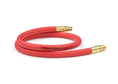 TEKTON 46133 3/8-Inch I.D. by 6-Foot 300 PSI Hybrid Lead-In Air Hose with 1/4-Inch MPT Ends