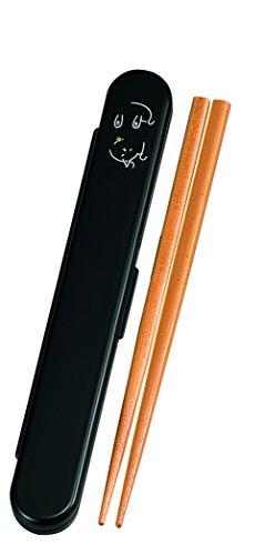 たつみや(Tatsumiya) ねこたち 18.0小判箸箱セット 豆ねこ 黒 サイズ:約W18.9 D2.9 H1.4 33123