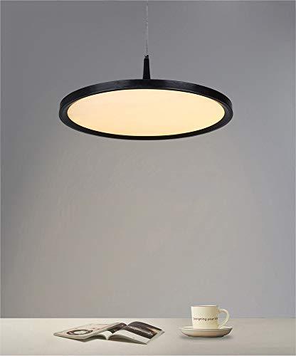 LED Lampe Suspension Moderne Ronde Design Minimaliste Salle À Manger Chambre Appartement Appartement Lumière Salle Cuisine Lampe Lampe En Métal Acrylique Lampe Warm White Lighting D40cm 24W 3000K