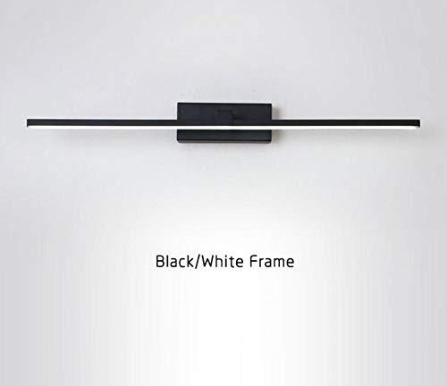 Ontwerp stijlvolle led-wandlamp voor badkamer, nachtkastje, moderne spiegel, koplamp, zwart-wit, led-wandlamp, zwart lichaam (warm wit) L40Cm 8W