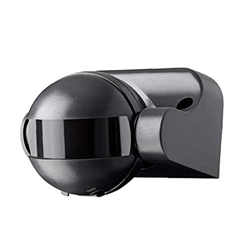 Jorzer Pir Sensor Superficie Al Aire Libre Montado En La Pared Movimiento Rango De Movimiento De Hasta 12 M 180 Grados Girar 220v Para Equipos De Control Y Distribución De Luz Negro Led, Interruptor