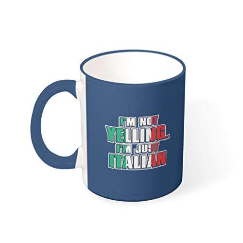 O2ECH-8 11 OZ Ich Schreie Niet, ich Bin Italiaans koffiemok keramiek personaliseerbaar beker - grappige spreuken mannen heden (beide zijden bedrukken)